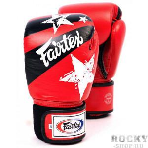 Боксерские перчатки Fairtex Nation Print, красные, 8 oz Fairtex