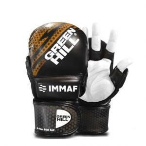 Перчатки MMA Green Hill  IMMAF черно-золотистые Green Hill
